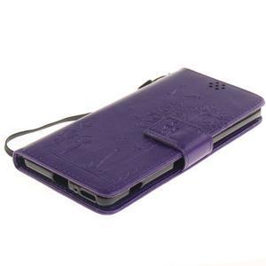 Dandely PU kožené puzdro pre mobil Sony Xperia XA - fialové - 3
