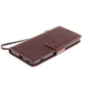 Dandely PU kožené puzdro pre mobil Sony Xperia XA - hnedé - 3