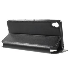 Royal PU kožené puzdro s okienkom na Sony Xperia XA - čierne - 3