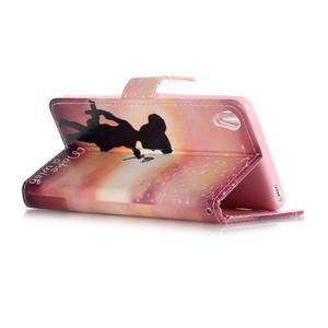 Emotive PU kožené knížkové puzdro pre Sony Xperia XA - želaj si niečo - 3