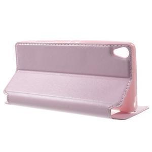 Royal PU kožené puzdro s okienkom na Sony Xperia XA - ružové - 3