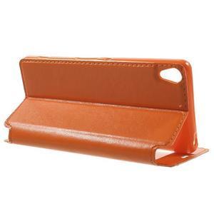 Royal PU kožené puzdro s okienkom na Sony Xperia XA - oranžové - 3