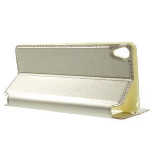Royal PU kožené pouzdro s okýnkem na Sony Xperia XA - zlaté - 3