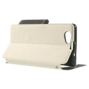 Okýnkové puzdro pre mobil Sony Xperia Z1 Compact - biele - 3