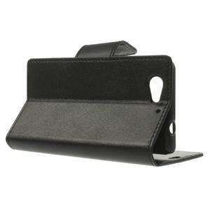 Sonata PU kožené puzdro pre mobil Sony Xperia Z1 Compact - čierne - 3