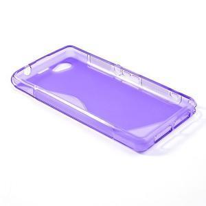 Gelové S-line pouzdro na Sony Xperia Z1 Compact - fialové - 3
