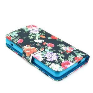 Puzdro pre mobil Sony Xperia Z1 Compact - kvetinová koláž - 3
