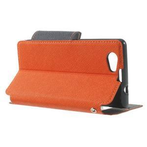 Okýnkové puzdro pre mobil Sony Xperia Z1 Compact - oranžové - 3