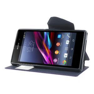 Okýnkové pouzdro na mobil Sony Xperia Z1 - fialové - 3