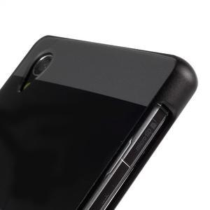 Kovový kryt s plastovými chrbtom na Sony Xperia Z1 - čierny - 3