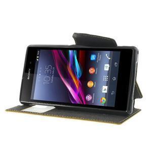 Okýnkové pouzdro na mobil Sony Xperia Z1 - žluté - 3