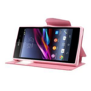 Okýnkové pouzdro na mobil Sony Xperia Z1 - rose - 3
