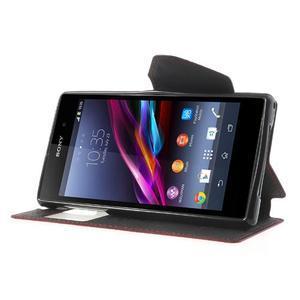 Okýnkové pouzdro na mobil Sony Xperia Z1 - červené - 3