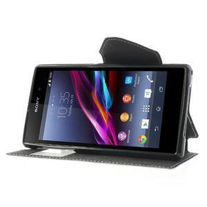 Okýnkové puzdro pre mobil Sony Xperia Z1 - biele - 3