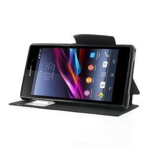 Okýnkové pouzdro na mobil Sony Xperia Z1 - černé - 3