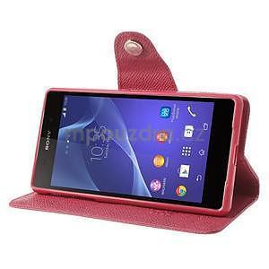 Štýlové Peňaženkové puzdro pre Sony Xperia Z2 - rose - 3