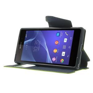 Okýnkové puzdro pre mobil Sony Xperia Z2 - zelené - 3