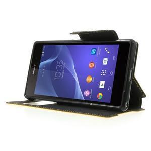 Okýnkové puzdro pre mobil Sony Xperia Z2 - žlté - 3