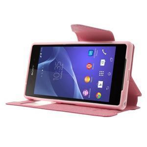 Okýnkové pouzdro na mobil Sony Xperia Z2 - rose - 3