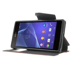 Okýnkové puzdro pre mobil Sony Xperia Z2 - červené - 3