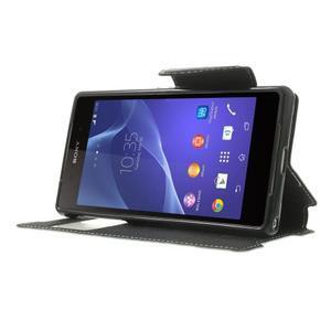 Okýnkové pouzdro na mobil Sony Xperia Z2 - bílé - 3