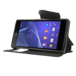 Okýnkové puzdro pre mobil Sony Xperia Z2 - čierne - 3