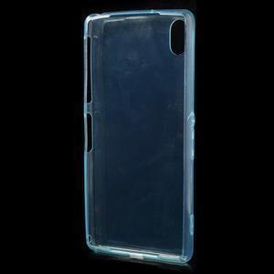 Ultratenký slim gélový obal pre mobil Sony Xperia Z2 - cyan - 3