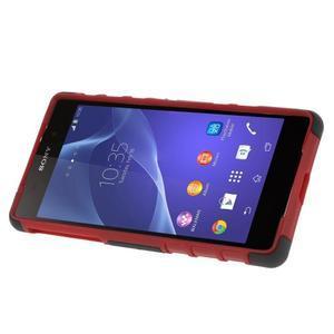 Outdoor odolný kryt pre mobil Sony Xperia Z2 - červený - 3