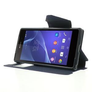 Okýnkové pouzdro na mobil Sony Xperia Z2 - fialové - 3