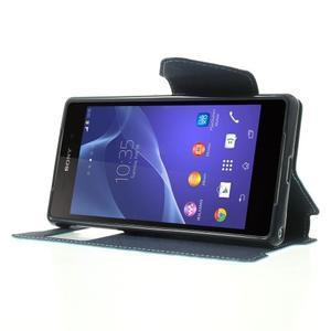 Okýnkové pouzdro na mobil Sony Xperia Z2 - světlemodré - 3