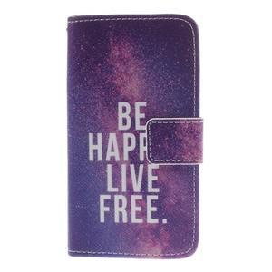 Knížkové puzdro pre mobil Sony Xperia Z3 Compact - be happy - 3