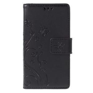 Butterfly PU kožené puzdro pre mobil Sony Xperia Z3 Compact - čierne - 3