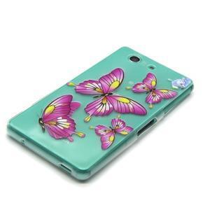 Gélový obal pre mobil Sony Xperia Z3 Compact - motýľkové - 3