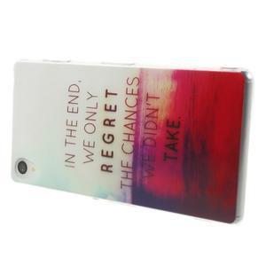 Ultratenký gélový obal pre mobil Sony Xperia Z3 - regret - 3