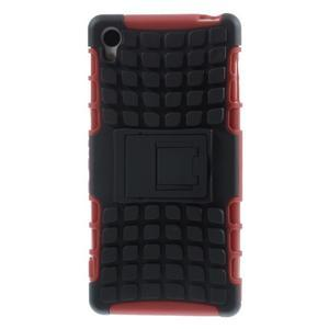 Outdoor ochranný kryt na mobil Sony Xperia Z3 - červený - 3