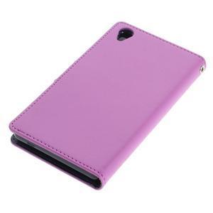 Luxury PU kožené pouzdro na mobil Sony Xperia Z3 - fialové - 3