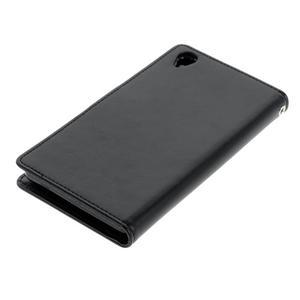 Luxury PU kožené pouzdro na mobil Sony Xperia Z3 - černé - 3