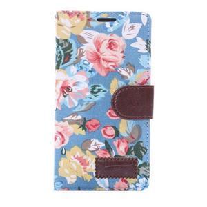kvetinové puzdro pre mobil Sony Xperia Z3 - modré - 3