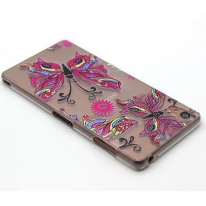 Gelový obal na mobil Sony Xperia Z3 - barevný motýlci - 3