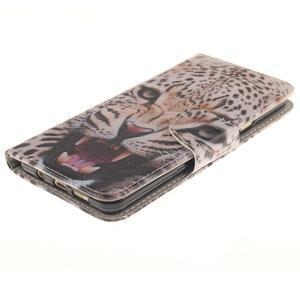 Patt peňaženkové puzdro pre Samsung Galaxy A3 (2016) - leopard se zoubky - 3