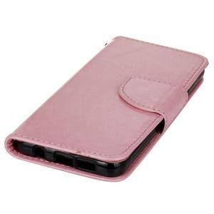 Hoor PU kožené puzdro pre mobil Samsung Galaxy A3 (2016) - ružové - 3