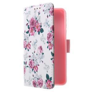 Fun peněženkové pouzdro na Samsung Galaxy A3 (2016) - květiny - 3