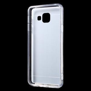 Zrcadlový gélový kryt pre Samsung Galaxy A3 (2016) - strieborny - 3