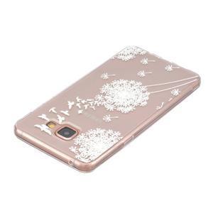 Slim průhledný gelový obal na Samsung Galax A3 (2016) - pampeliška - 3