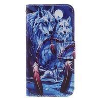 Standy peňaženkové puzdro pre Samsung Galaxy A3 (2016) - vlci - 3/7