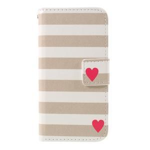 Standy peňaženkové puzdro pre Samsung Galaxy A3 (2016) - srdiečka - 3