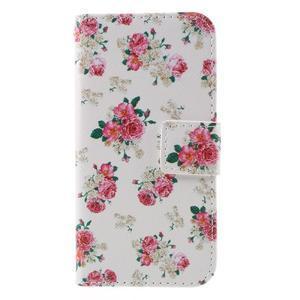 Standy peňaženkové puzdro pre Samsung Galaxy A3 (2016) - kvety - 3