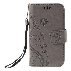 Butterfly puzdro pre mobil Samsung Galaxy Trend 2 Lite - šedé - 3
