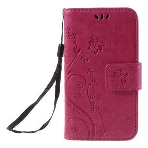 Butterfly puzdro pre mobil Samsung Galaxy Trend 2 Lite - rose - 3