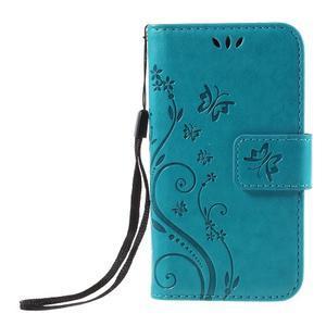 Butterfly pouzdro na mobil Samsung Galaxy Trend 2 Lite - modré - 3